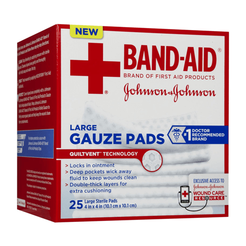 "Band-Aid Gauze Pad Absorbent Sterile Sponges, 2""x2"", 25/Box"