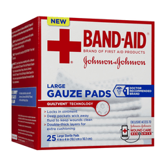 "Band-Aid Gauze Pad Absorbent Sterile Sponges, 2""x2"", 25/Box for Gauze Pads by Johnson & Johnson 