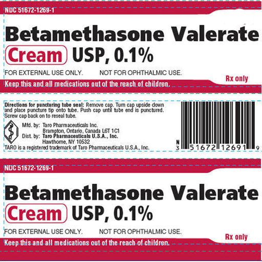 Betamethasone Valerate Cream 0.1% by Taro - Topical Corticosteroid - Mountainside Medical Equipment
