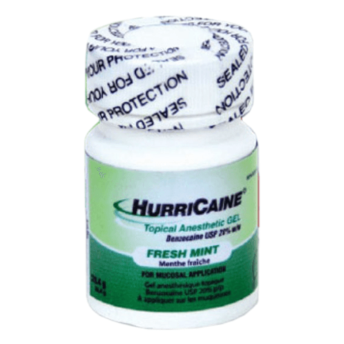 Hurricane Topical Anesthetic Oral Gel, Fresh Mint, 20% Benzocaine - Oral Pain Relief - Mountainside Medical Equipment