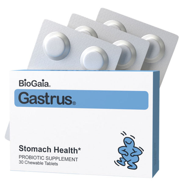 BioGaia Gastrus Chewable Probiotic Tablets for Stomach Health