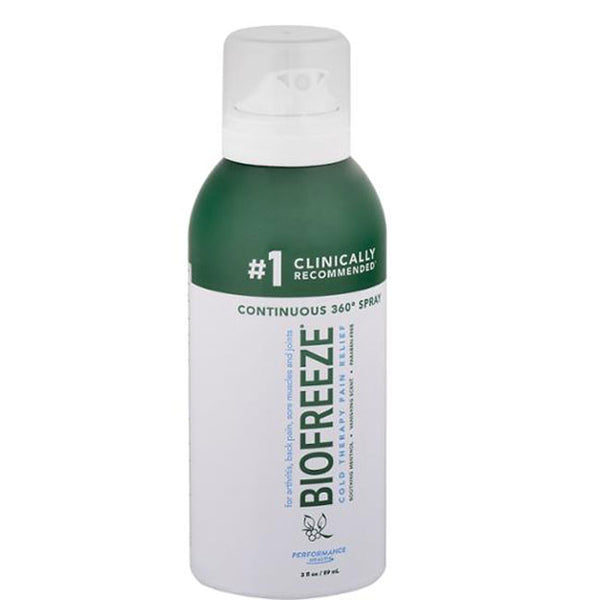 Biofreeze Cold Therapy Pain Relief Continuous 360 Degree Spray