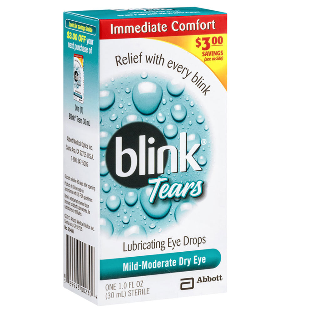 Buy Blink Lubricating Eye Drops For Mild Moderate Dry Eyes, 15mL online used to treat Lubricating Eye Drops - Medical Conditions