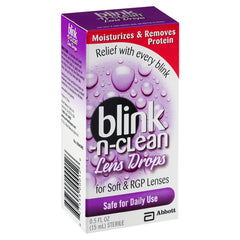 Buy Blink-N-Clean Lens Drops for Soft and RGP Contact Lenses Relief, 15mL online used to treat Lubricating Eye Drops - Medical Conditions