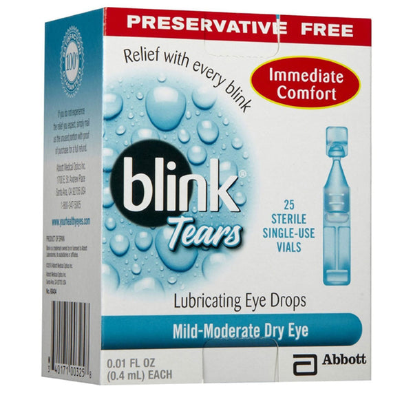 Blink Tears Preservative Free Lubricating Eye Drops, Mild to Moderate, 25 Vials