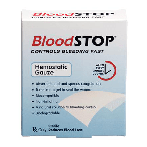 "Buy BloodSTOP Advanced Hemostasis Gauze 2""x2"" 20/Pkg online used to treat First Aid Supplies - Medical Conditions"