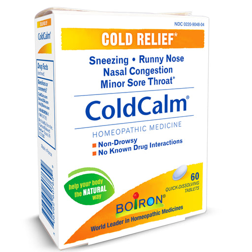 Boiron Coldcalm Quick Dissolving Cold Relief Tablets - Cold & Sinus Relief - Mountainside Medical Equipment