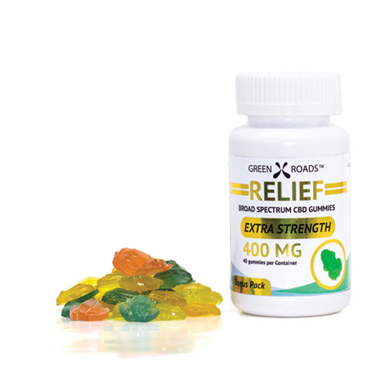 CBD Multiple Relief Toad Gummies Extra Strength 400mg (40 ct) Made in USA