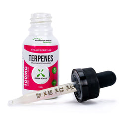 CBD Terpenes Oil with Dropper 300mg Strawberry AK Flavor (Extra Strength) Made in USA
