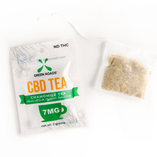 CBD Calming Tea Bags infused with 7mg CBD Per Bag