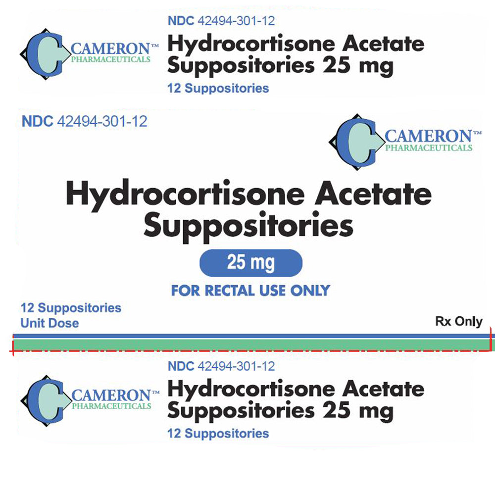 Buy Cameron Hydrocortisone Acetate Suppositories 25 mg, 12/Box online used to treat Hemorrhoid Relief - Medical Conditions