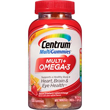 Centrum MultiGummies Vitamins with Omega-3 Fish Oil
