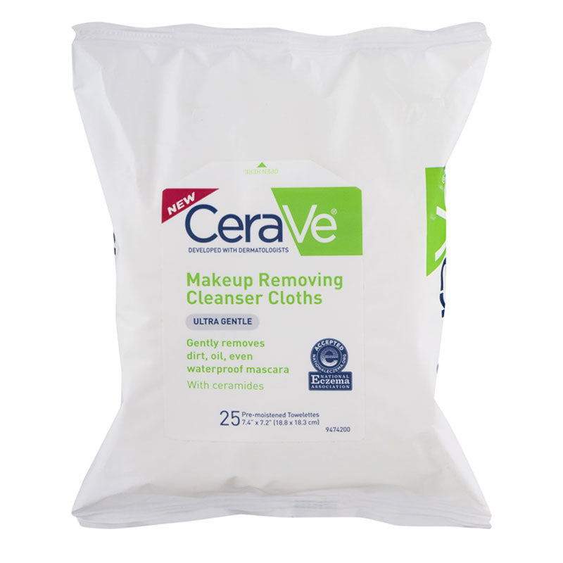 Buy CeraVe Makeup Removing Cleansing Cloths, 25-Pack online used to treat Makeup Removing Cleanser - Medical Conditions