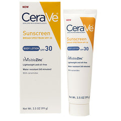 Buy CeraVe Sunscreen Body Lotion SPF 30 with Ceramides, Oil-Free 3.5 oz online used to treat Moisturizing Body Lotion - Medical Conditions