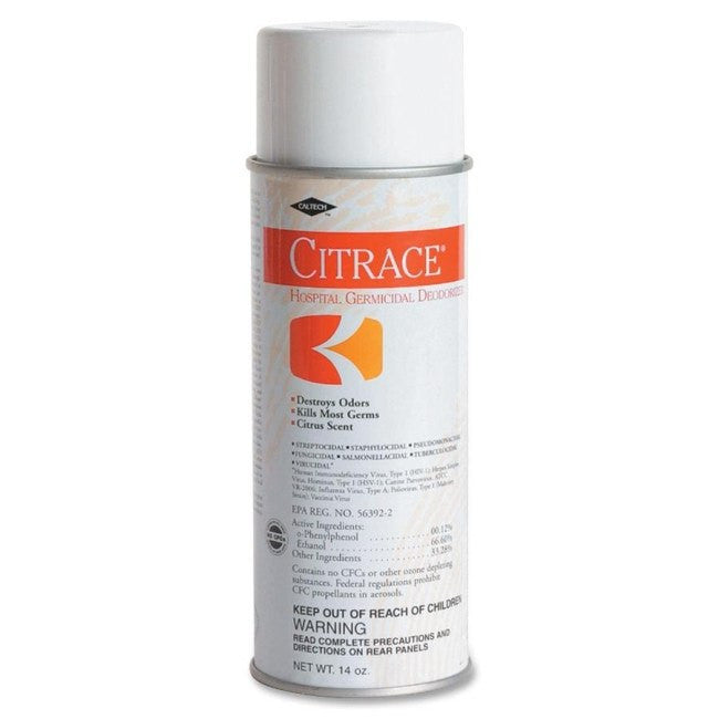 Citrace Germicide Surface Disinfectant Spray, 14 oz Citrus Scent (Hospital-Grade) - Surface Disinfectant Cleaner - Mountainside Medical Equipment
