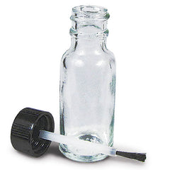 Buy 20 mL Clear Empty Glass Bottle with Brush Applicator Cap online used to treat Empty Glass Bottle - Medical Conditions