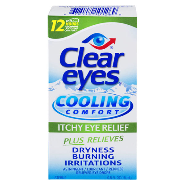 Clear Eyes Cool Comfort Itchy Dry Eye Relief Drops