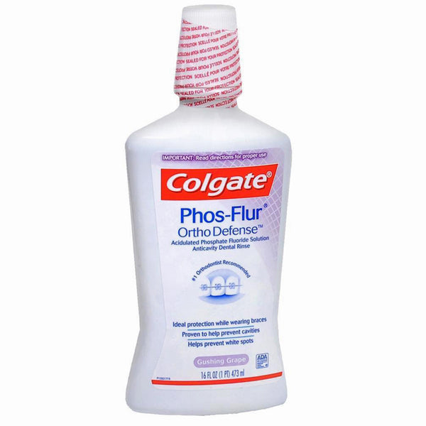 Colgate Phos Flur Anticavity Oral Rinse, Grape Flavor