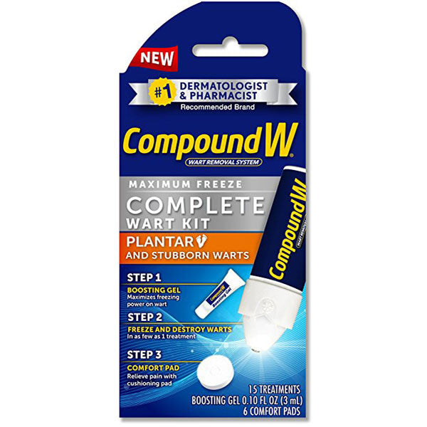 Compound W Maximum Freeze Complete Wart Removal Kit