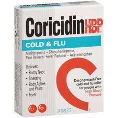 Buy Coricidin HBP Cold and Flu Medicine 10 Tablets online used to treat Cold Medicine - Medical Conditions