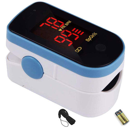Digital Finger Pulse Oximeter, LED Screen - Finger Pulse Oximeter - Mountainside Medical Equipment