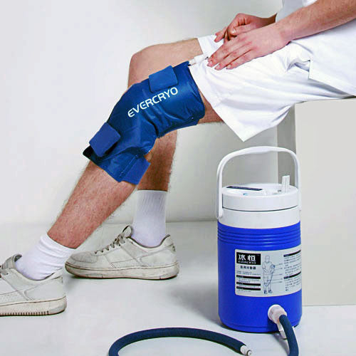 Cold Therapy Cryo-Cuff with Gravity Cooler with Knee Wrap Included