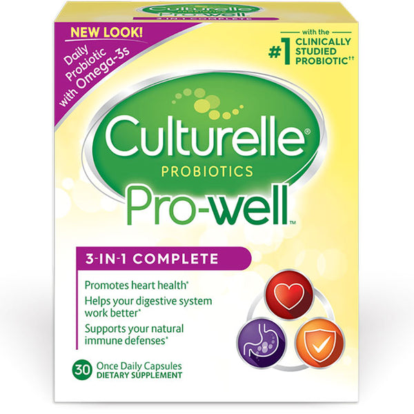 Culturelle Pro-Well 3-in-1 Complete Probiotics with Omega 3s