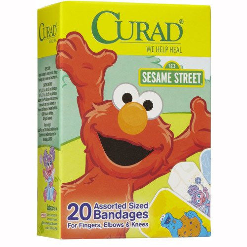 Buy Curad Sesame Street Bandages 20 Per Box used for Adhesive Bandages by Curad