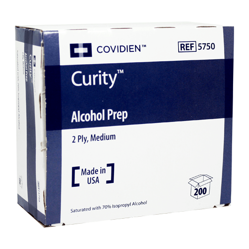 Curity 5750 Alcohol Prep Pads, Medium Sterile 200/Box