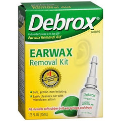 Debrox Earwax Removal Aid Kit for Ear Supplies by Rochester Drug | Medical Supplies