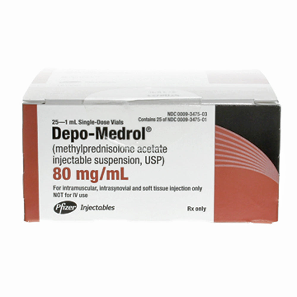 Buy Depo-Medrol for Injection 80 mg, 5 mL x 25/Pack online used to treat Anti-Inflammatory Injection - Medical Conditions