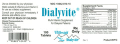Buy Dialyvite Multivitamin Supplement for Dialysis Health (HP10) online used to treat Multivitamin for Dialysis Patients - Medical Conditions