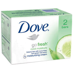 Buy Dove Go Fresh Cool Moisture Beauty Bar Soap, 2-Pack online used to treat Body Soap - Medical Conditions