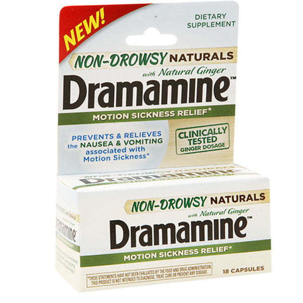 Dramamine Naturals Motion Sickness Relief Non-Drowsy