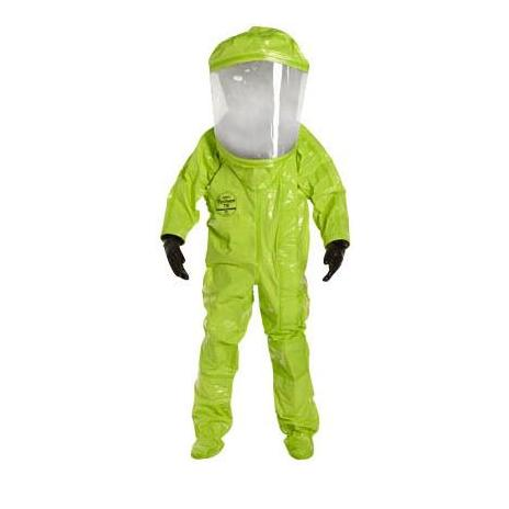 Level A Full Hazmat Suit Front Entry Fully Encapsulated, Chemical Resistant Suit - Hazmat Suit - Mountainside Medical Equipment