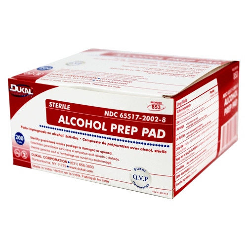 Buy Dukal Alcohol Prep Pads 200/Box with Coupon Code from Dukal Sale - Mountainside Medical Equipment