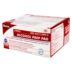 Buy Dukal Alcohol Prep Pads 200/Box by Dukal | SDVOSB - Mountainside Medical Equipment