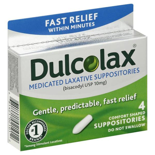 Dulcolax Medicated Laxative Suppository 10 mg - Laxatives - Mountainside Medical Equipment