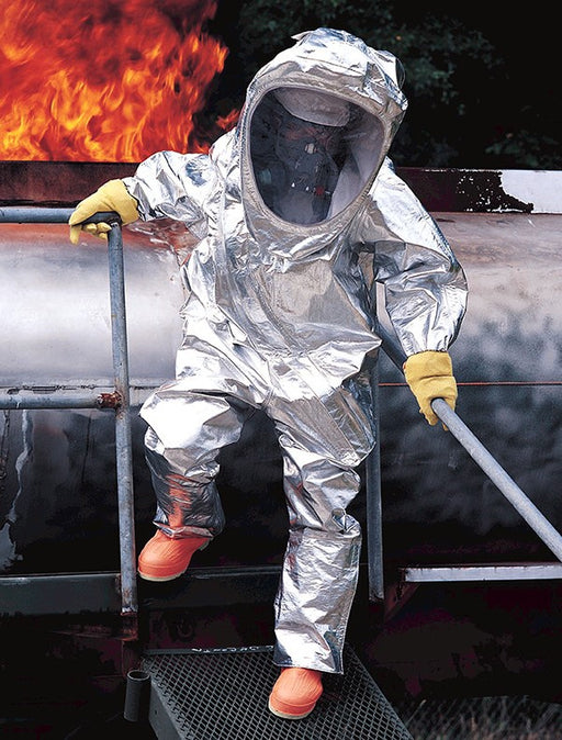 Tychem 10000 Heavy-Duty Aluminized Foil Fabric Chemical Protection Suit - Hazmat Suit - Mountainside Medical Equipment