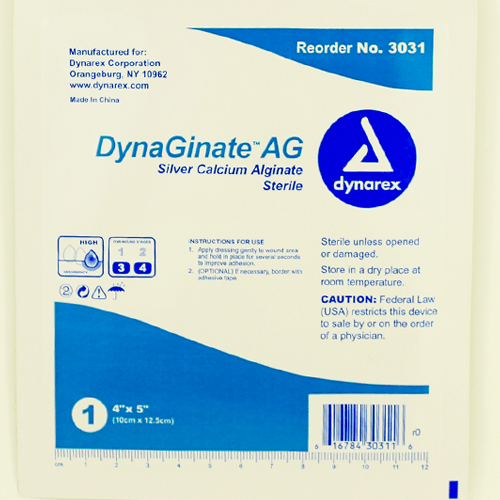 DynaGinate AG Silver Calcium Dressings