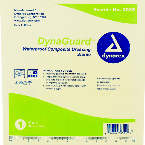 DynaGuard Waterproof Composite Dressings, 10/Box