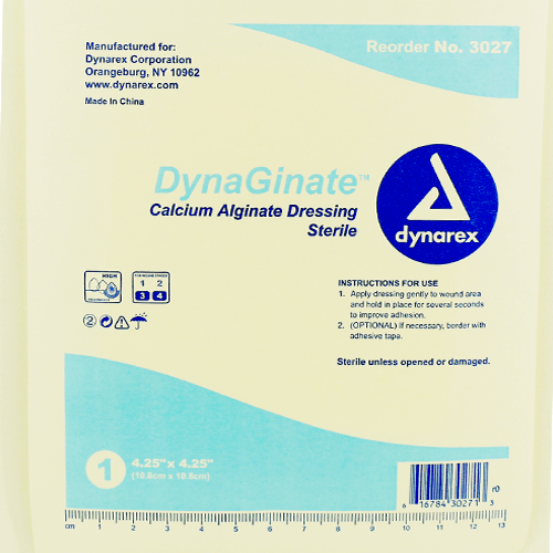 Buy DynaGinate Calcium Alginate Dressings, 10/Box by Dynarex from a SDVOSB | Alginate Wound Care Dressings