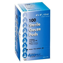 "Buy Sterile Gauze Pads, 4""x4"" 12 Ply 100/Box with Coupon Code from Dynarex Sale - Mountainside Medical Equipment"