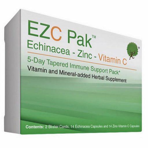 EZC Pak 5-Day Immune Support Pack with Echinacea, Zinc and Vitamin C - Natural Immune Suppport Supplement - Mountainside Medical Equipment