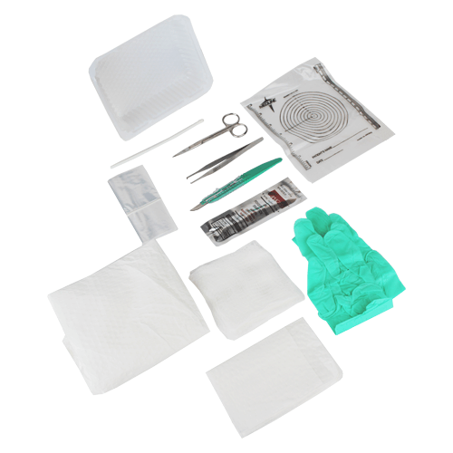E Kit Debridement Tray with SAFETY Scalpel