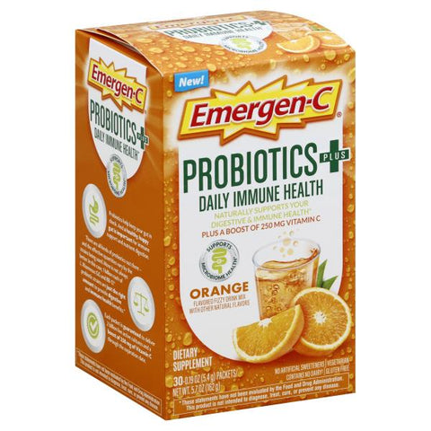 Emergen-C Probiotics+ Orange Daily Immune Health Drink Mix