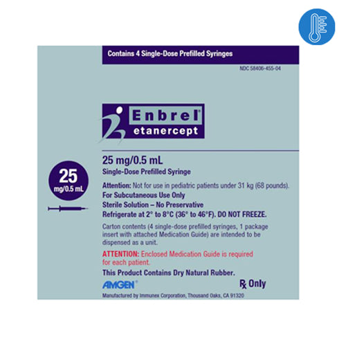Enbrel Prefilled Syringes for Injection 25mg 4/Box