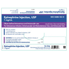 Buy Epinephrine for Injection 1 mL Ampules (1:1000), 10/Box online used to treat Treatment of Allergic Reactions - Medical Conditions