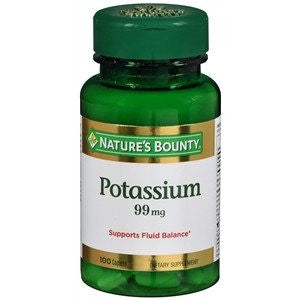 Buy Natures Bounty Potassium Gluconate 99mg Caplets by Nature
