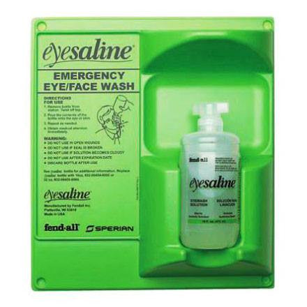 Eyesaline Wall Mounted Eye Wash Station with 32 oz Solution